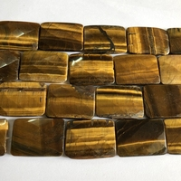 """Wholesale 1string of 15.5"""" Natural Tiger Eye 30x40mm Faceted Rectangle Pendant Beads, Gem stone Loose Beads for jewelry making"""
