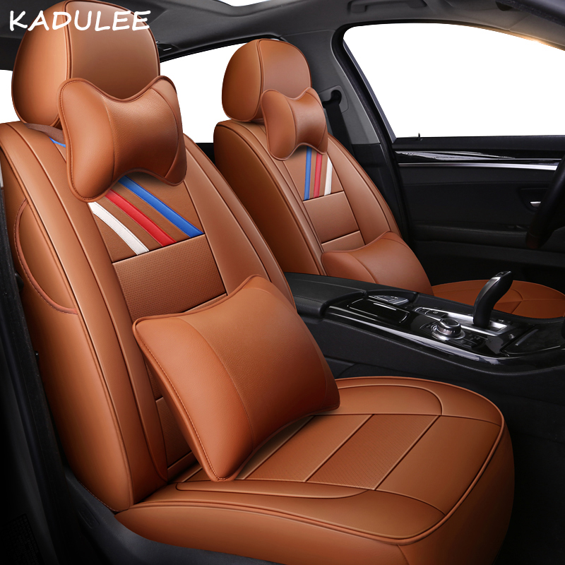 KADULEE Genuine Leather car seat cover for ford fiesta ranger fusion focus 2 mk2 mondeo mk3