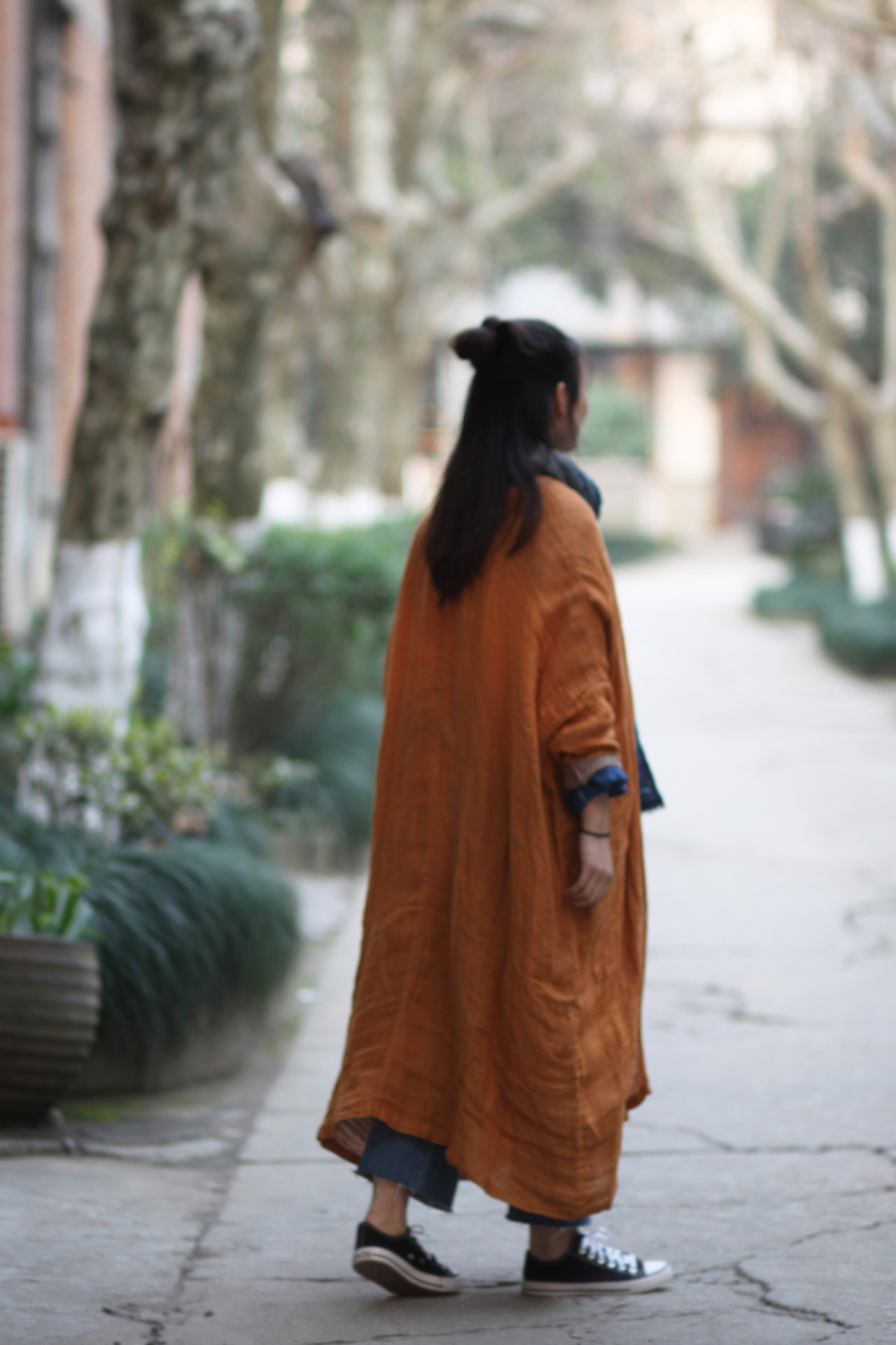 Cardigan Ethnique Rue Pleine Femmes Camel Couches Vintage Lin ManteauPrintemps Couleur Ultra Double Vrac Automne Longues Outwear En Mosaïque xdoCeB