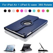 A1474 A1475 A1476 Microfiber Premium Quality Cover 360 Degrees Rotating Case For iPad Air 1 (iPad 5) Smart Sleep Awake up Tablet tablet case for ipad air 1 model a1474 a1475 a1476 szegychx 360 rotation crocodile pu leather protective sleeve rotary cover
