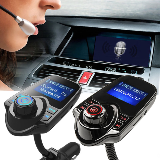 In-Car Bluetooth  Transmitter with Handfree Calling & Music control & USB Charging Port for Cell Phone MP3 Players