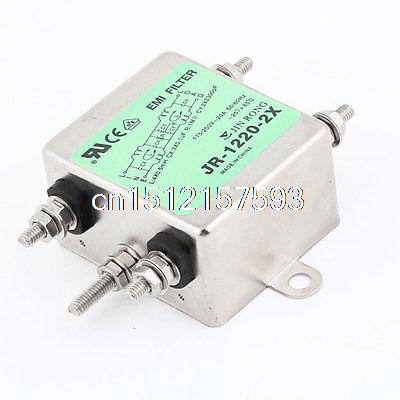 20A Rated Current AC 115V/250V JR-1220-R Power Line EMI Filter