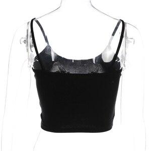 Image 5 - Weekeep kadın kırpılmış ejderha baskı Cami yaz seksi siyah spagetti kayışı Backless mahsul en 2018 Streetwear bralette üstleri kadın