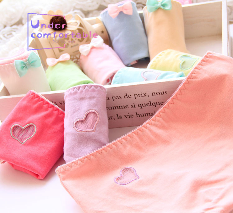 Freshness Solid Embroidery Hollow Out Women Underwear Pure Cotton Female Panties Comfortable Girls Intimates Underpanties