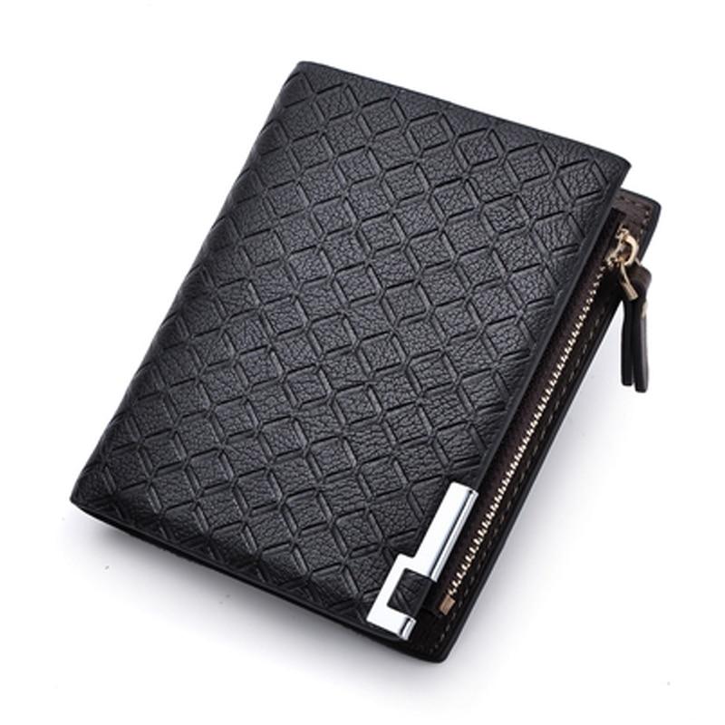 цены на Fashion Designer leather Men wallet with coin purse Brand Coins Pocket billfold for man card holder