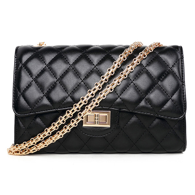 e39b0a4fd03 vintage women handbag sac cuir femme vintage chaine sacs a main femme en  solde pochette sac bandouliere femme sacoche chain bag-in Shoulder Bags  from ...
