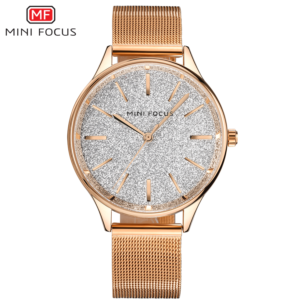 MINI FOCUS Fashion Quartz Watch Women Watches Ladies Girls Famous Brand Wrist Watch Female Clock Montre Femme Relogio MF0044L kinyued fashion quartz watch women watches ladies girls famous brand wrist watch female clock montre femme relogio j016s 1