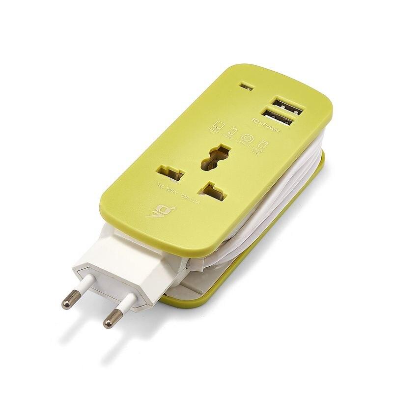 Power Strip EU US UK Plug Power Extension Socket Travel Adapter 1.5m Cable Portable USB Smart Phone Tablets Charger Desktop Hub