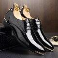 Tamaño grande 38-48 2016 Nueva Diseñado Hombres Primavera Otoño Pisos Pu de Buena Calidad Transpirable Pisos de Vestir Zapatos de Boda Zapatos Hombre