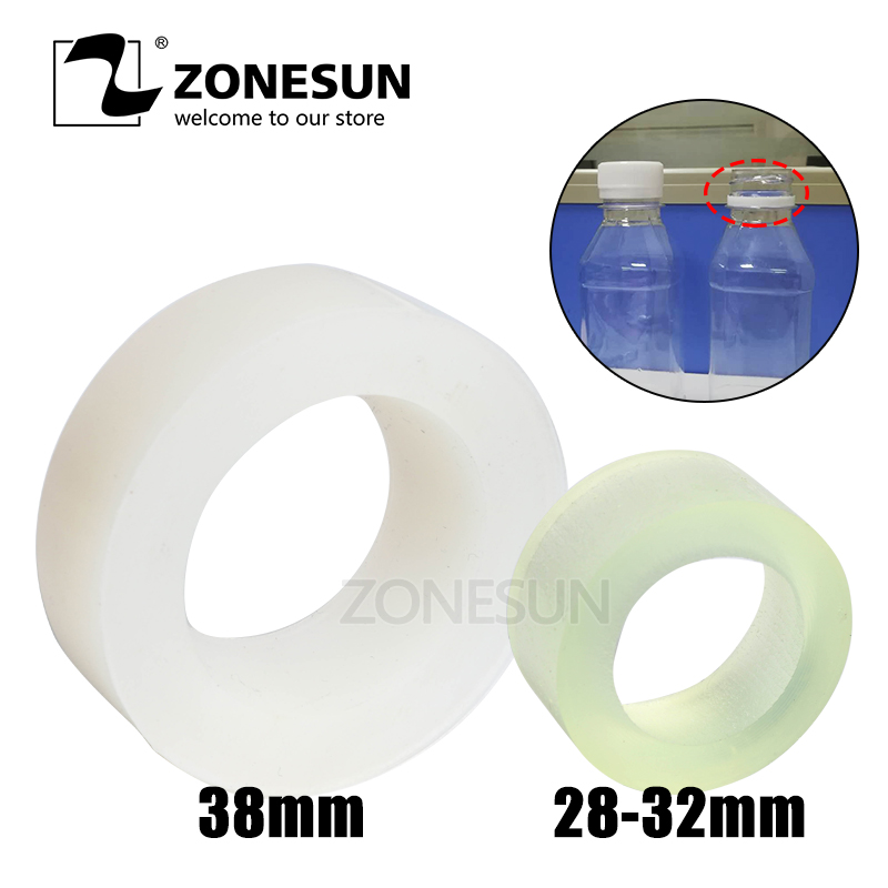ZONESUN Capping Machine Chuck Rubber Mat For Capper 28-32mm 38mm Round Plastic Bottle With Security Ring Silicone Capping Chuck