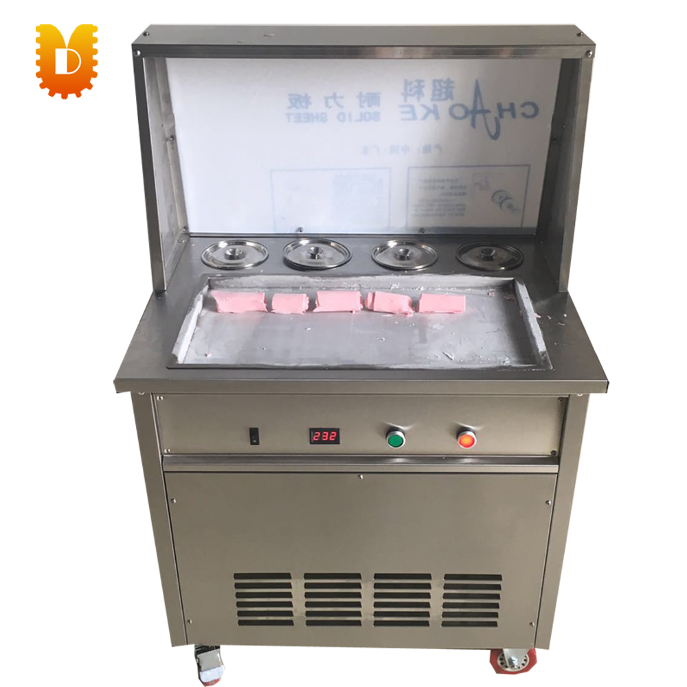pan 55*30cm commercial ice frying machine free dhlship to your home dhl ship electric fry ice cream machine one pan milk ice roll machine r410 fried ice pan machine