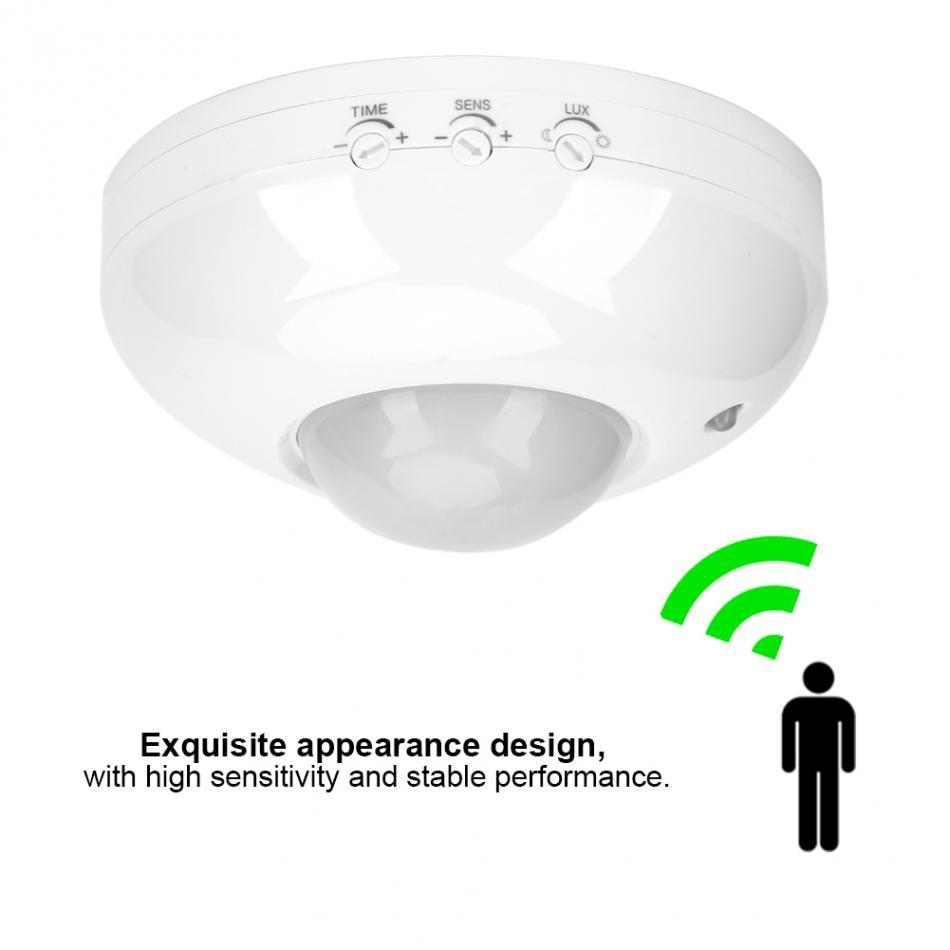 Adjustable Infrared Motion Sensor Switch 110V-240V  Body Motion Movement Ceiling Infrared Sensor Detector Light Bulb Switch