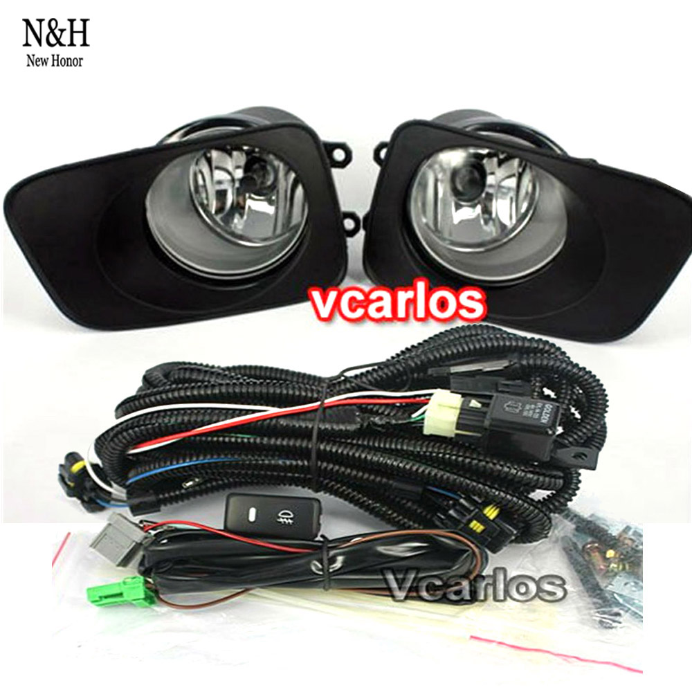 High quality car halogen fog lights lamp set for toyota corolla fielder axio 2007 with clear