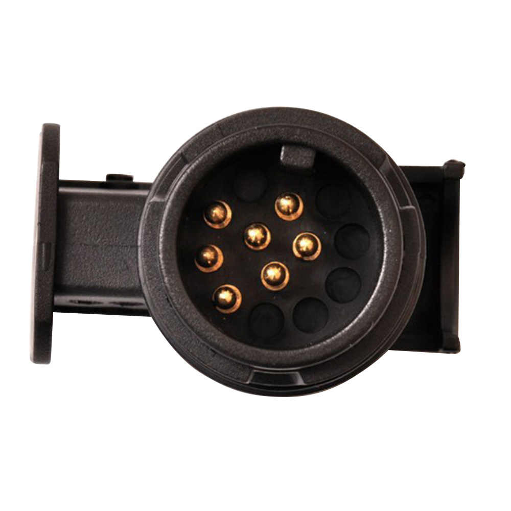 small resolution of  12v trailer wiring connector 13 to 7 pin trailer adapter black frosted materials towbar towing plug