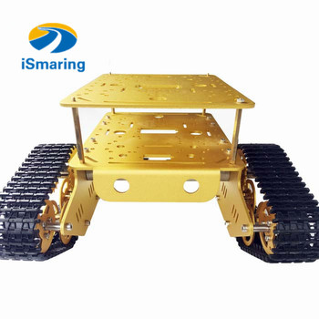 Official iSmaring TD300 Double Crawler yellow Tank Chassis Car Model Arduino Wall-e Robot of Gen Guest Contest