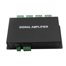 цена на HC800 8 channels SPI TTL signal synchronizer LED amplifier DC12V24V 8 ports output controller For dream color pixel led strip