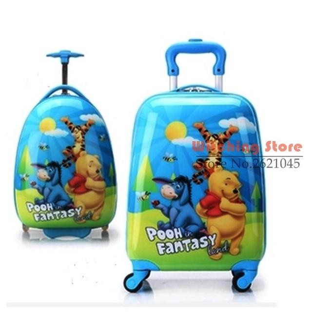 16 INCH  161819# KT cat luggage universal wheel travel ABS children box male and female board chassis #EC FREE SHIPPING