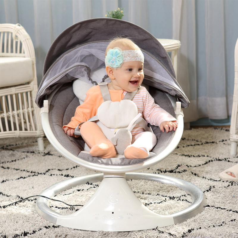 Bébé électrique chaise berçante bébé balancelle pour nouveau-nés bébé berceau avec télécommande berceau inclinable sommeil