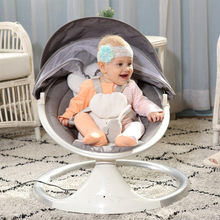 Electric Baby Rocking Chair Baby Swing For Newborns Baby Cradle With Remote Control Cradle Recliner Sleep(China)