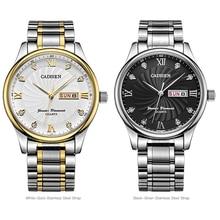 Original CADISEN Men's Watch 3ATM Waterproof Auto Date Men's Watches First Luxury Gold Stainless Steel Classic Quartz Watch
