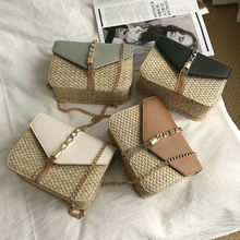 Women Bohemia Straw Bag Woven Rattan Handbag Crossbody Summer Beach Chain Bags For 2019 Handbags