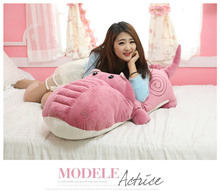 huge plush cartoon crocodile toy big stuffed pink crocodile doll gift about 160cm