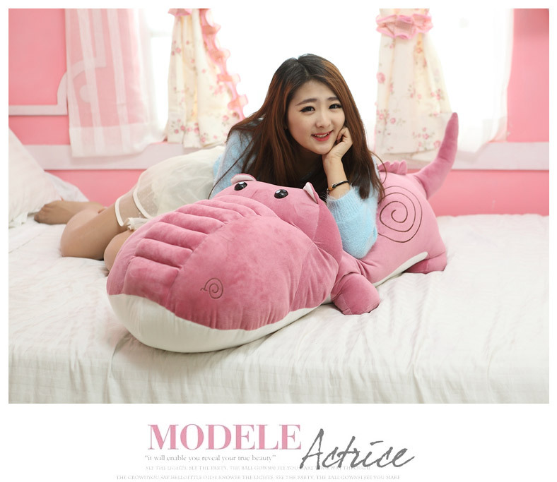 huge plush cartoon crocodile toy big stuffed pink crocodile doll gift about 160cm 0098 цена и фото