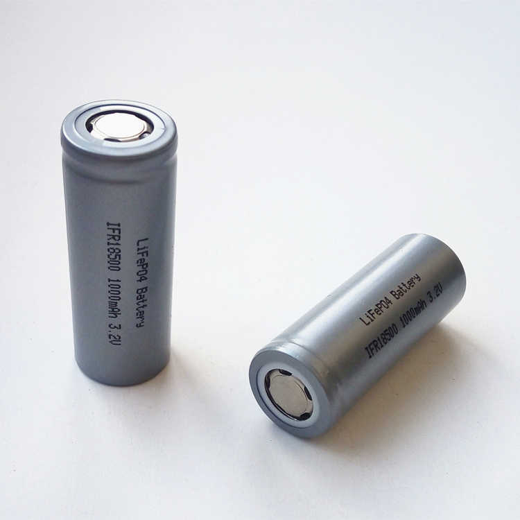 LiFePO IFR 18500 lithium iron phosphate 3.2V LFP 1000mAh Rechargeable chargeable Battery Cell with Free charger