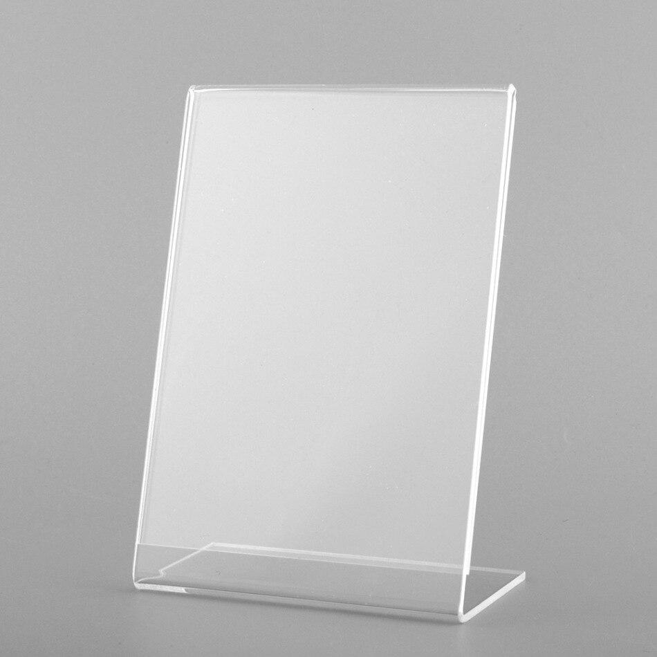 Poster Displays Menu Holder Leaflet Shop Sign Clear Acrylic /& PVC Pk//5pcs
