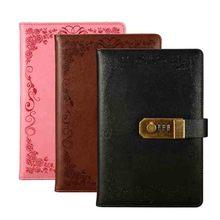 A5 Notebook Dagboek Met Slot School Vintage Afsluitbare Papier Pu Lederen Notitieboek Reiziger Journal Wekelijkse Planner Briefpapier Gift