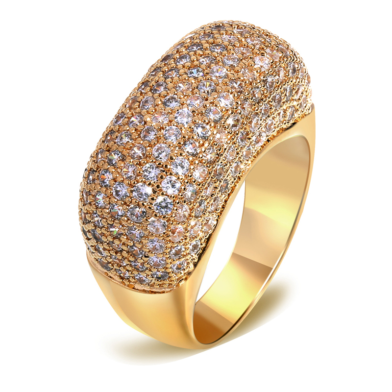 Fashion 18k gold jewelry Ring of gold Womens jewellery Gold filled ...
