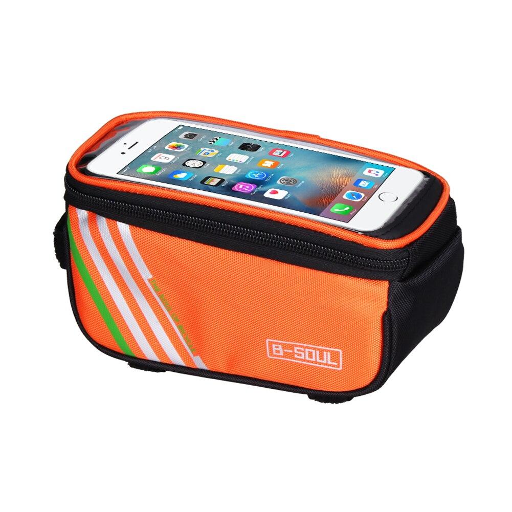 B-SOUL 1.5L/5,5 дюймов сенсорный мобильный телефон Водонепроницаемая велосипедная сумка передняя велосипедная Рама сумка для хранения велосипед...