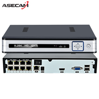 4CH 8CH Full HD Onvif 1080P 48V Real PoE NVR All In One Network Video Recorder