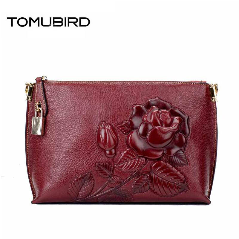 2017 New women genuine leather bag brands rose embossed fashion luxury women leather clutch bag shoulder messenger bag 2016 new genuine leather women bag brands fashion women clutch bag fashion quality women leather messenger bag