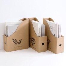 Домашняя книжная папка, настольная коробка для хранения, бумажная книжная полка, стол, офисная Студенческая книжная стойка, коробка для закрепления