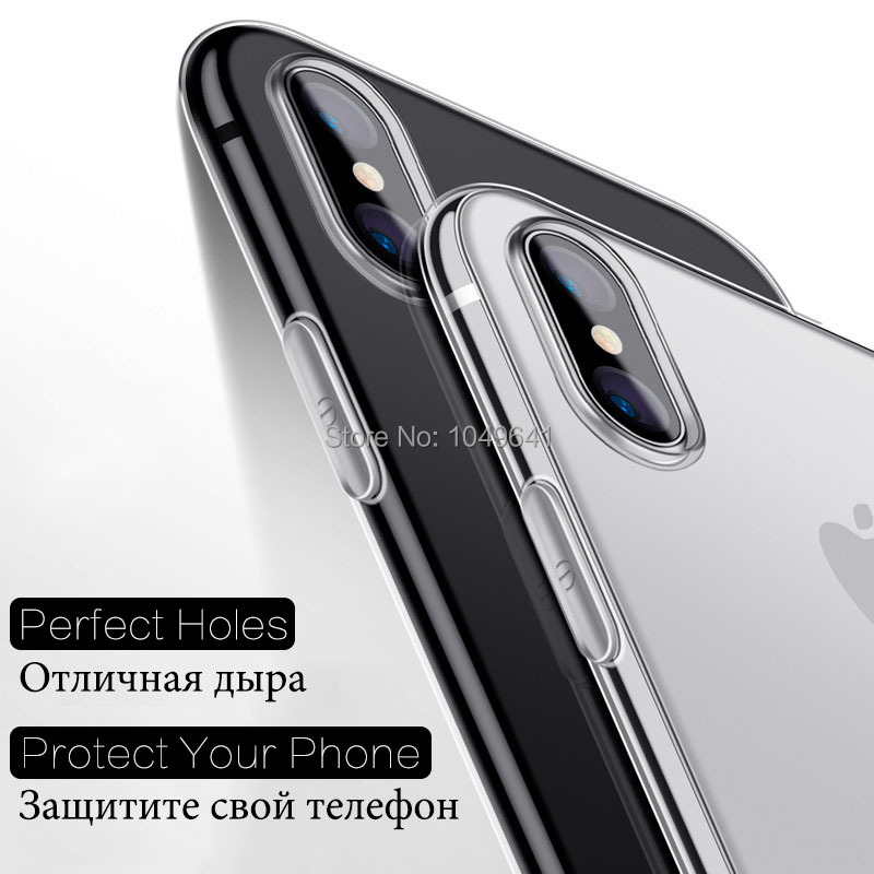 KIPX1004_2_Transparent Clear TPU Case For iPhone X.