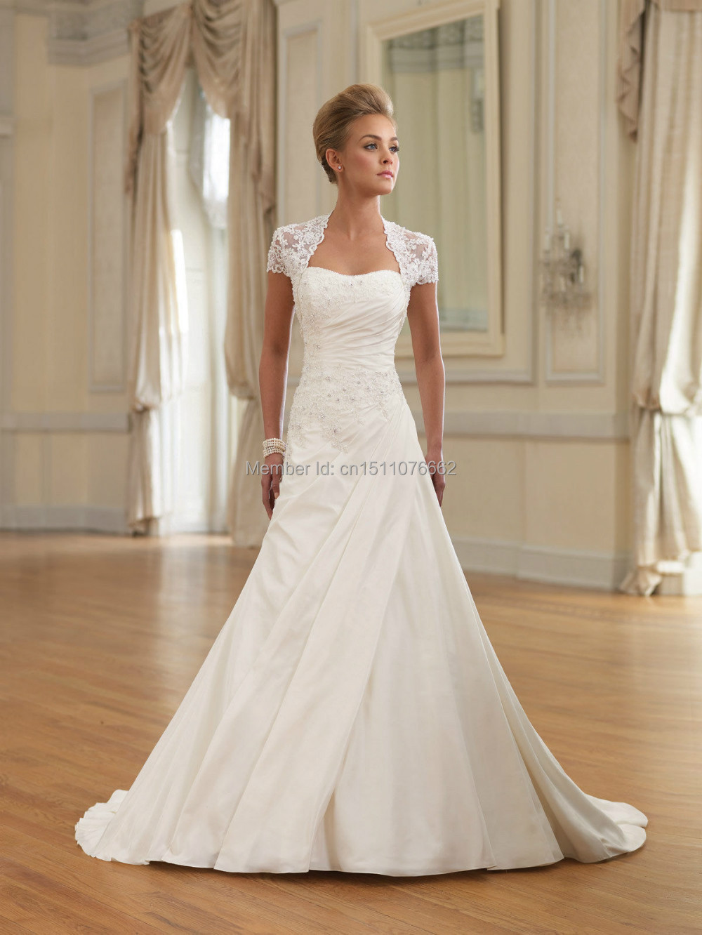 Jackets bridesmaid dresses picture more detailed picture about white ivory bridal satin formal mermaid fishtail long train wedding dress custom made size 8 10 ombrellifo Choice Image