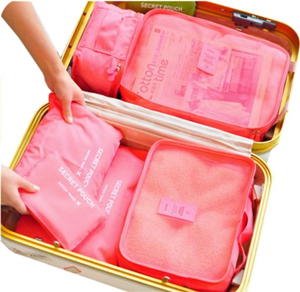 Најлон пакирање коцка путна торба сустав Дурабле 6 комада један сет велики капацитет врећица унисекс одјећа сортирање организирати торбу  т