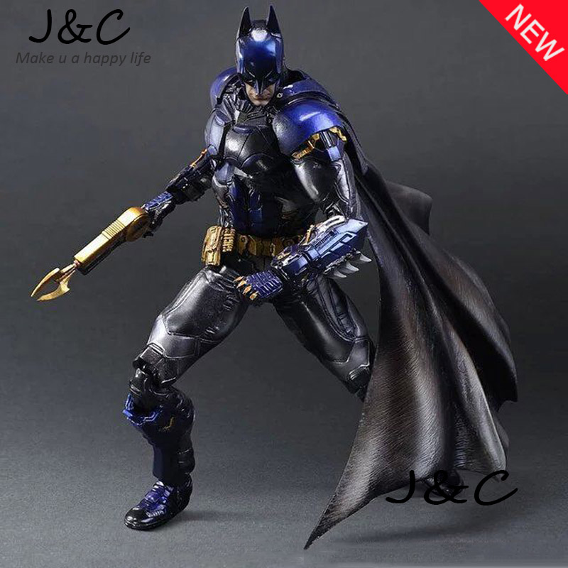 Hot Sale PA Batman Movie Play Art PA Kai Arkham Knight Blue Limited Ver. PVC Action Figure Toy 28cm Model Statue For Gift new hot 28cm justice league super hero batman arkham knight blue limited edition action figure toys doll christmas gift