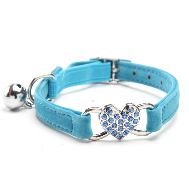 Bling your Cat with this Rhinestone Heart Cat Collar
