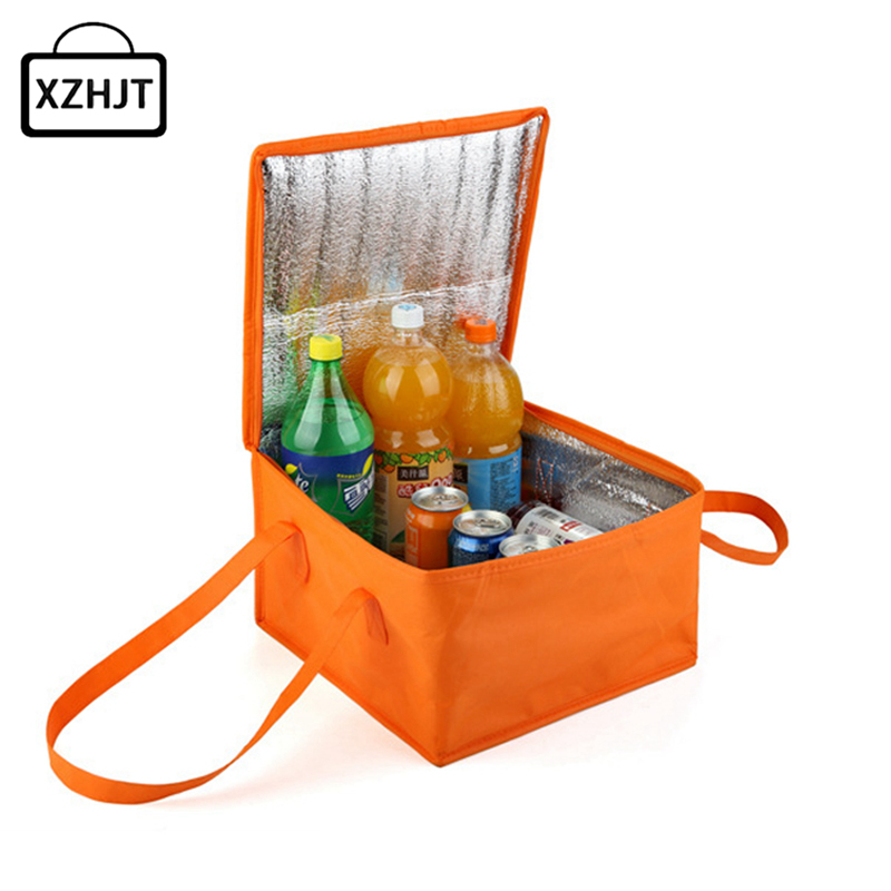 2016 Women Lunch Bag Cooler Waterproof Collapsible Insulated Portable Tote Picnic Lunch Box Tote Ice Pack 25* 25*19 Cm luxury brand lunch bag for women kids men oxford cooler lunch tote bag waterproof lunch bags insulation package thermal food bag