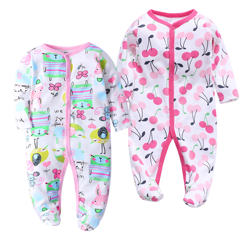 Baby Boy Rompers Newborn Clothes Long Sleeve Comfortable Footed Pajamas Baby Girl Clothes 100% Cotton 12 Months Kids Jumpsuit