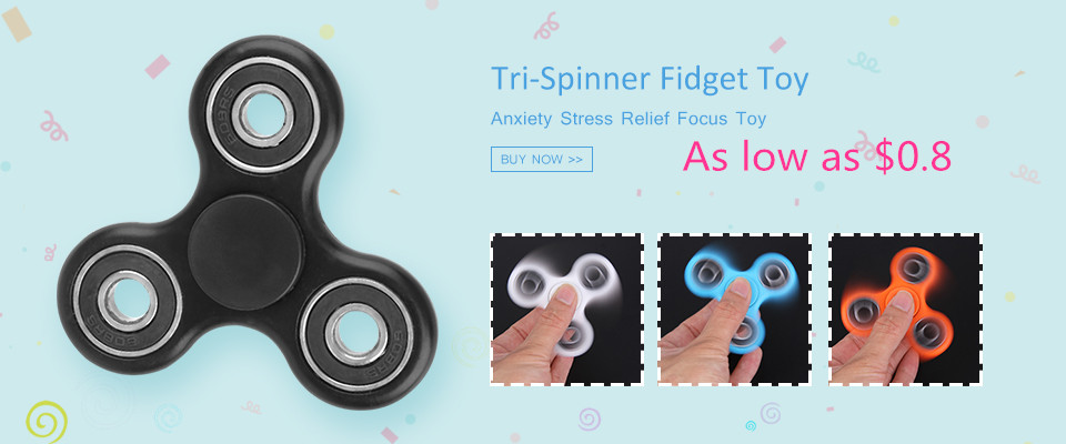 Fidget Spinner Tri-Spinner Fidget Toy EDC Hand Spinner Anxiety Stress Relief Hand Finger Spinner Toys for Children