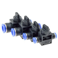 Air Pneumatic Hand Valve Fitting 10mm 8mm 6mm 12mm OD Hose Pipe Tube Push Into Connect T-joint 2-Way Flow Limiting Speed Control цена 2017