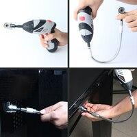 105 Degree Driver Screwdriver 1 4 Inch Hex Bit Socket Holder 200mm Flexible Shaft Bits For