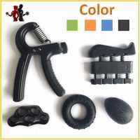 5 stück Hand Grip Trainer Set Finger Widerstand Band Gummi Ring Einstellbar 5-60 KG Schwere Griffe Finger Exerciser ball