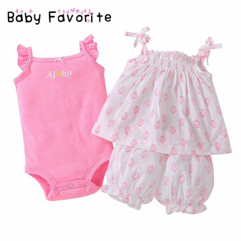 Baby Favorite Newborn Girls Clothes Sets 2 Pcs/ Lot Fashion Floral Girls Suit Infant Pink Blue Spring Clothing sets bebek ST-14