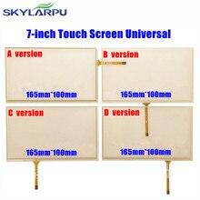 Skylarpu 10 sztuk/partia nowy 7 cal 165mm * 100mm ekran dotykowy do nawigacji samochodowej DVD 7 cal es ekran dotykowy panel digitizera uniwersalny
