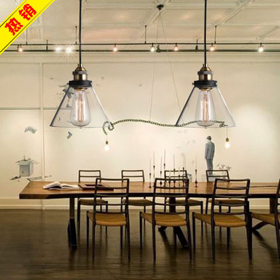 Nordic american country retro loft industrial glass chandelier bar table dining ikea living room hallway lighting