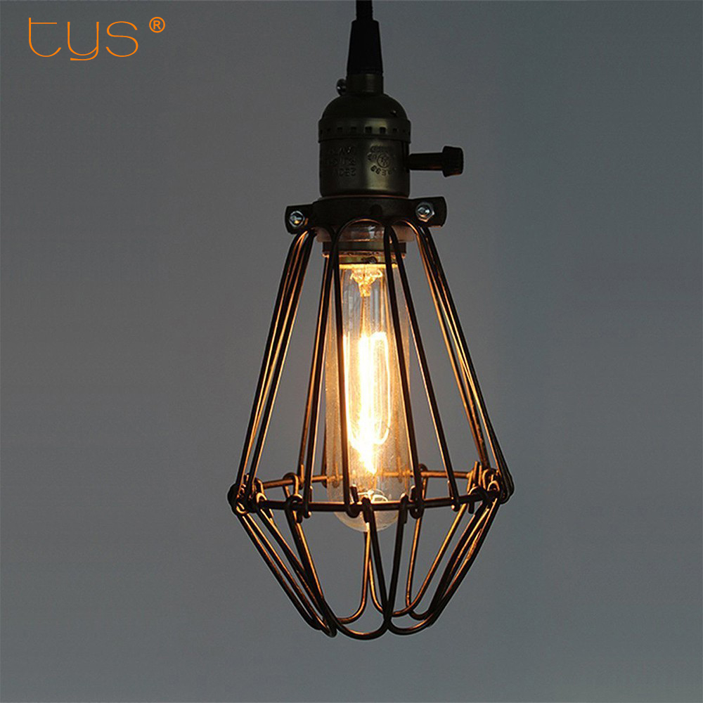 Lampshade industrial black abajur metal birdcage lights lamp lampshade industrial black abajur metal birdcage lights lamp shades chandeliers for table lamps edison vintage bulb pendant lamp in lamp covers shades geotapseo Image collections